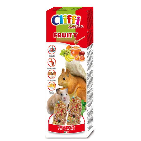 """Sticks criceti e scoiattoli con frutta e miele """"fruity"""" 110 g"""