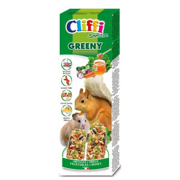 """Sticks criceti e scoiattoli con ortaggi e miele """"greeny"""" 110 g"""